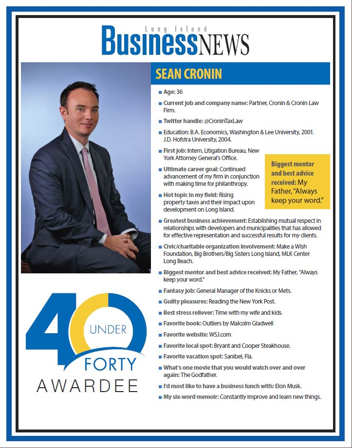 Sean Cronin - 40 Under 40